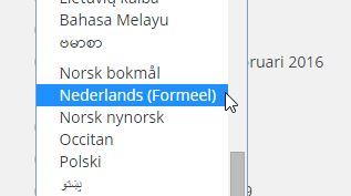 Taalinstelling Formeel Nederlands ‹ WordPress Basis