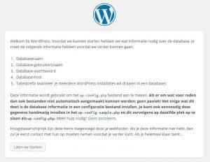 WordPress Basis Setup configuratiebestand