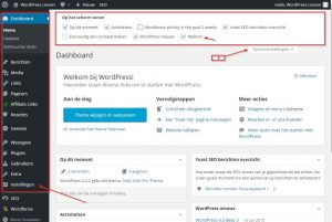 WordPress Dashboard Introductie