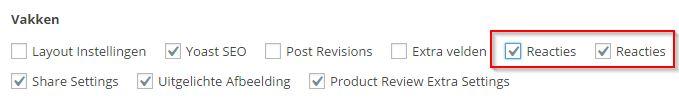 WordPress Pagina reactie mogelijkheden aanzetten